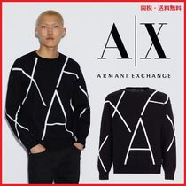 A/X Armani Exchange Crew Neck Long Sleeves Knits & Sweaters