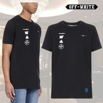 Off-White Crew Neck Short Sleeves Crew Neck T-Shirts