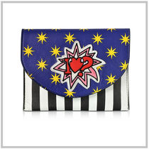 alessandro enriquez Stripes Star Casual Style Unisex Street Style 2WAY Leather
