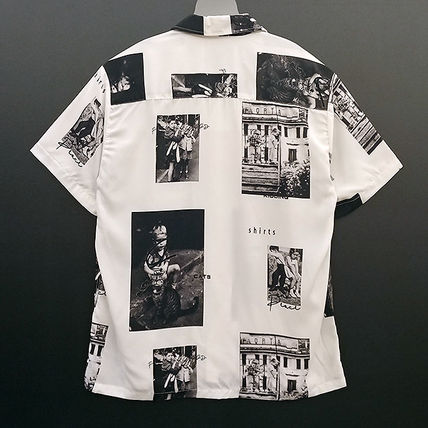 Shirts Unisex Street Style Short Sleeves Oversized Shirts 4