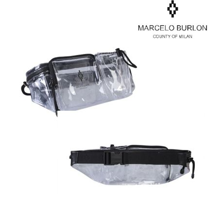Casual Style Unisex Crystal Clear Bags PVC Clothing Bags