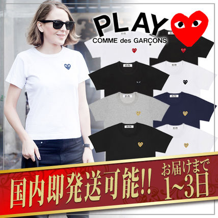 COMME des GARCONS Crew Neck Unisex Plain Medium Short Sleeves Logo T-Shirts