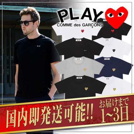 COMME des GARCONS Crew Neck Crew Neck Unisex Plain Short Sleeves Crew Neck T-Shirts