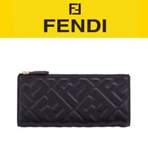 FENDI Unisex Street Style Long Wallets