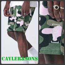 CAYLER&SONS Camouflage Sweat Street Style Shorts