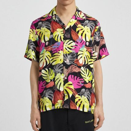 Flower Patterns Street Style Short Sleeves Surf Style Shirts