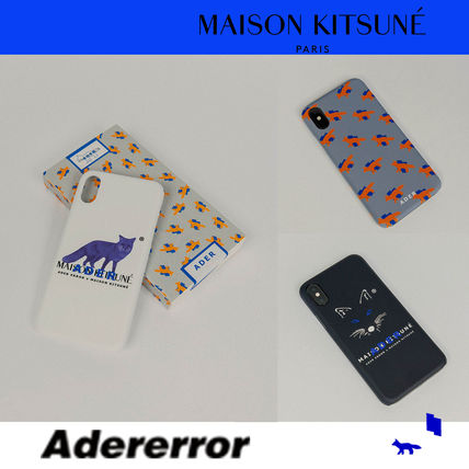 Unisex Street Style Collaboration Plain Smart Phone Cases