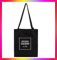 OPENING CEREMONY Casual Style Unisex Street Style A4 Logo Handbags