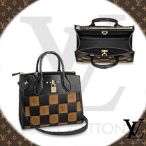 Louis Vuitton CITY STEAMER Other Check Patterns Monogram Blended Fabrics 2WAY Leather