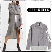 Off-White Casual Style Denim Street Style Plain Shirts & Blouses