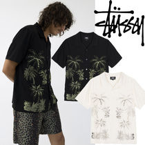 STUSSY Button-down Tropical Patterns Street Style Plain