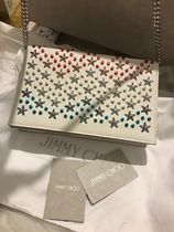Jimmy Choo Casual Style Calfskin Studded 3WAY Party Style Shoulder Bags