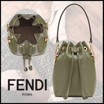 FENDI MON TRESOR Calfskin 2WAY Plain Elegant Style Shoulder Bags