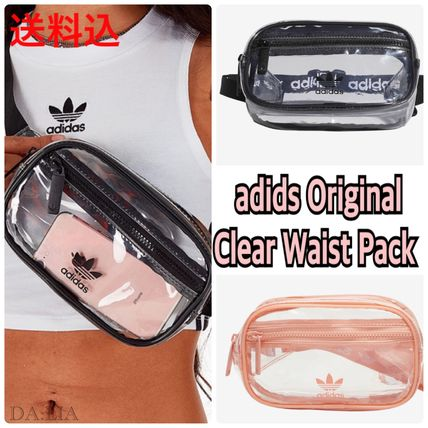 Unisex Street Style Crystal Clear Bags Shoulder Bags