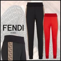 FENDI Casual Style Street Style Plain Cotton Long Pants