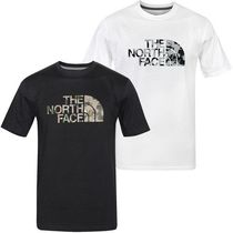 THE NORTH FACE Crew Neck Camouflage Unisex Street Style Short Sleeves