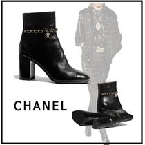 CHANEL 2019-20AW SHORT BOOTS black short boots & booties