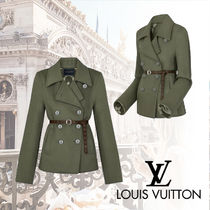 Louis Vuitton Other Check Patterns Wool Peacoats