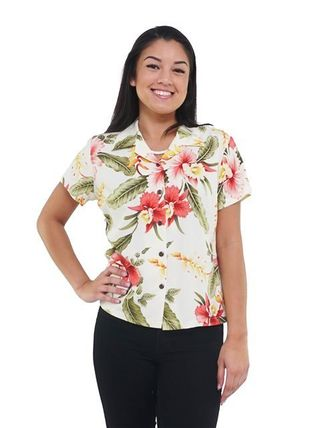Short Flower Patterns Tropical Patterns Casual Style