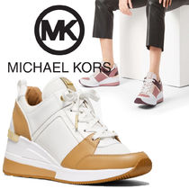 Michael Kors Casual Style Street Style Leather Platform & Wedge Sneakers