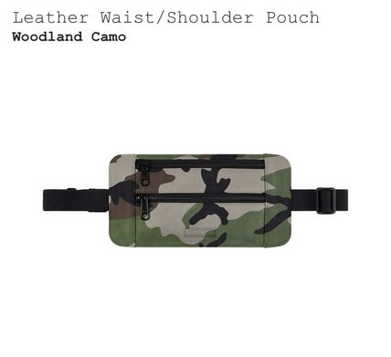 Camouflage Street Style Leather Hip Packs
