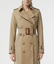 Burberry THE KENSINGTON Plain Elegant Style Trench Coats