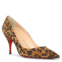 Christian Louboutin Leopard Patterns Suede Other Animal Patterns Pin Heels