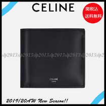 CELINE Unisex Calfskin Blended Fabrics Plain Folding Wallets