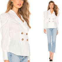 Cameo the Label Puffed Sleeves Plain Cotton Medium Shirts & Blouses
