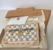 Louis Vuitton DAMIER 3WAY Leather Party Style Clutches