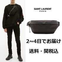 Saint Laurent Unisex Canvas Street Style Plain Hip Packs
