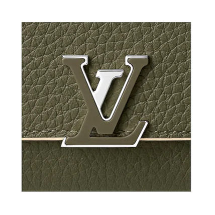 Louis Vuitton Folding Wallets Plain Leather Folding Wallets 8