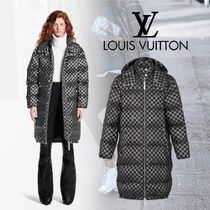 Louis Vuitton Other Check Patterns Long Down Jackets