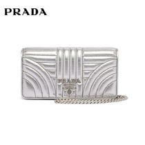 PRADA DIAGRAMME Chain Leather Elegant Style Shoulder Bags