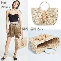 HAT Attack Plain Straw Bags