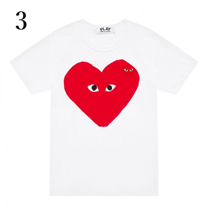 COMME des GARCONS Crew Neck Crew Neck Unisex Plain Short Sleeves Crew Neck T-Shirts 6