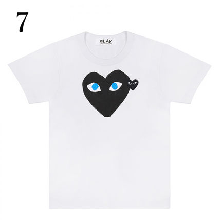 COMME des GARCONS Crew Neck Crew Neck Unisex Plain Short Sleeves Crew Neck T-Shirts 10