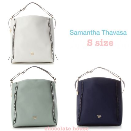 Faux Fur Collaboration 2WAY Plain Elegant Style Backpacks