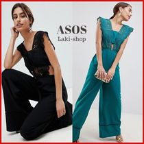 ASOS Dungarees Blended Fabrics Sleeveless Plain Long Party Style