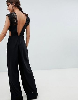 ASOS Dresses Dungarees Blended Fabrics Sleeveless Plain Long Party Style 3