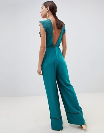 ASOS Dresses Dungarees Blended Fabrics Sleeveless Plain Long Party Style 7