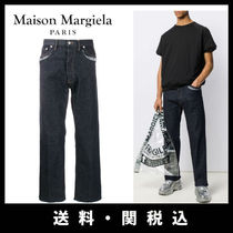 Maison Martin Margiela Stripes Denim Street Style Plain Oversized Jeans & Denim