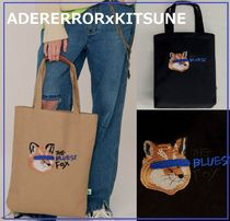 ADERERROR Unisex Street Style Collaboration Totes