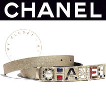 CHANEL ICON Street Style Plain Leather Handmade With Jewels