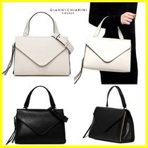 GIANNI CHIARINI 2WAY Plain Leather Handbags