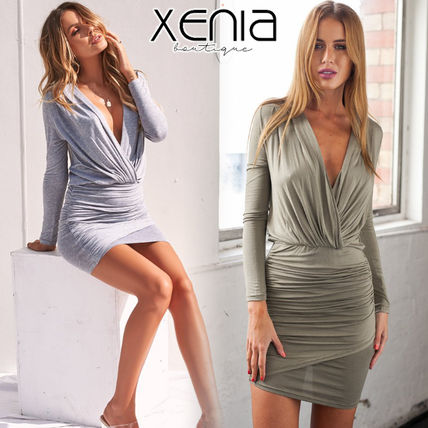 Short Casual Style Tight Long Sleeves Dresses