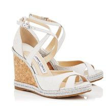 Jimmy Choo Open Toe Other Animal Patterns Leather