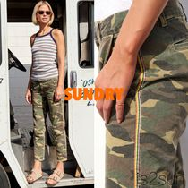 SUNDRY Printed Pants Camouflage Casual Style Street Style Cotton