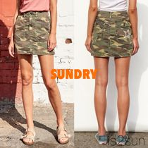 SUNDRY Printed Pants Short Star Camouflage Street Style Cotton