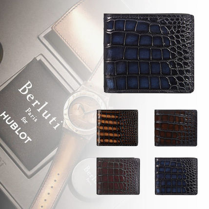 Crocodile Plain Folding Wallets